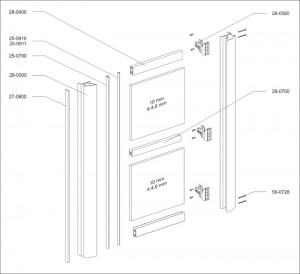 Vouwdeur AL28 ET-1