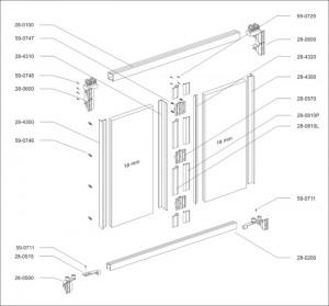 Vouwdeur AL28 ET-4