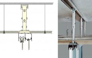 schuifdeuren onder een systeemplafond